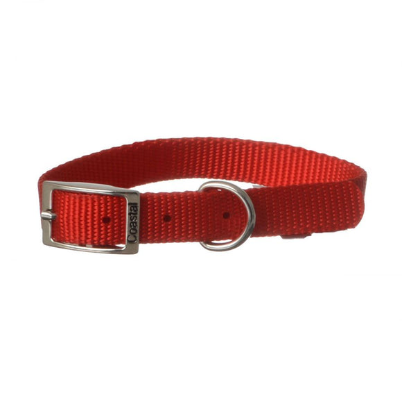 Coastal Pet Single Nylon Collar - Red (40114R)
