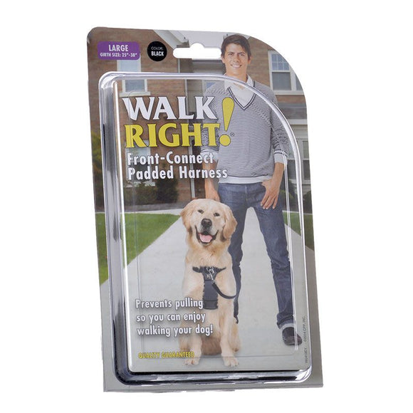 Coastal Pet Walk Right Padded Harness - Black (6162 LG BL)