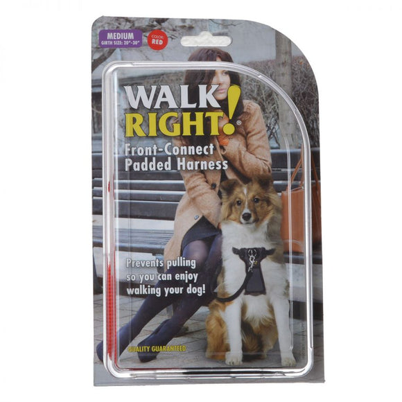 Coastal Pet Walk Right Padded Harness - Red (6162 MED R)