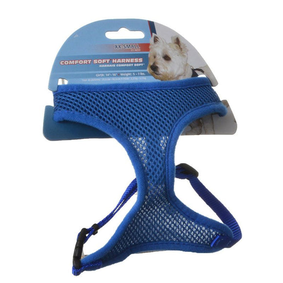 Coastal Pet Comfort Soft Adjustable Harness - Blue (06313 BLUX)