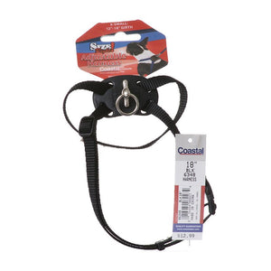 Coastal Pet Size Right Adjustable Nylon Harness - Black (6348BK)