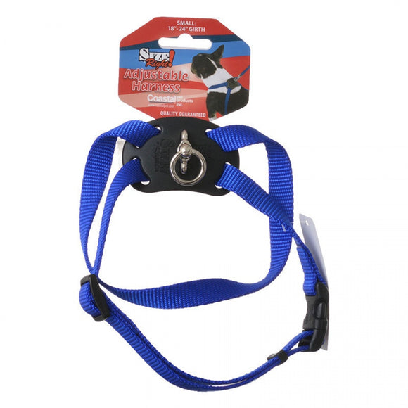 Coastal Pet Size Right Nylon Adjustable Harness - Blue (6448BL)