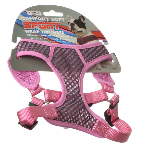 Coastal Pet Sport Wrap Adjustable Harness - Pink (GYP)