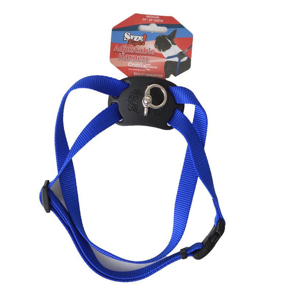 Coastal Pet Size Right Nylon Adjustable Harness - Blue (6648BL)