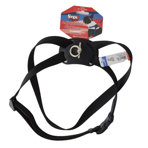 Coastal Pet Size Right Nylon Adjustable Harness - Black (6948BK)