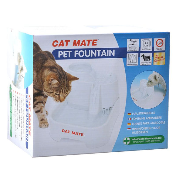 Cat Mate Pet Fountain - White (335)