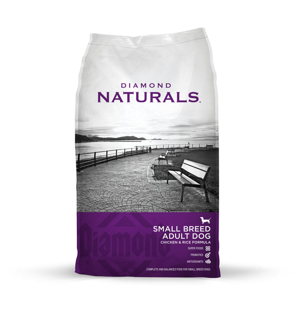 Diamond Naturals Small Breed Adult Dog Chicken & Rice Formula 18 Lbs