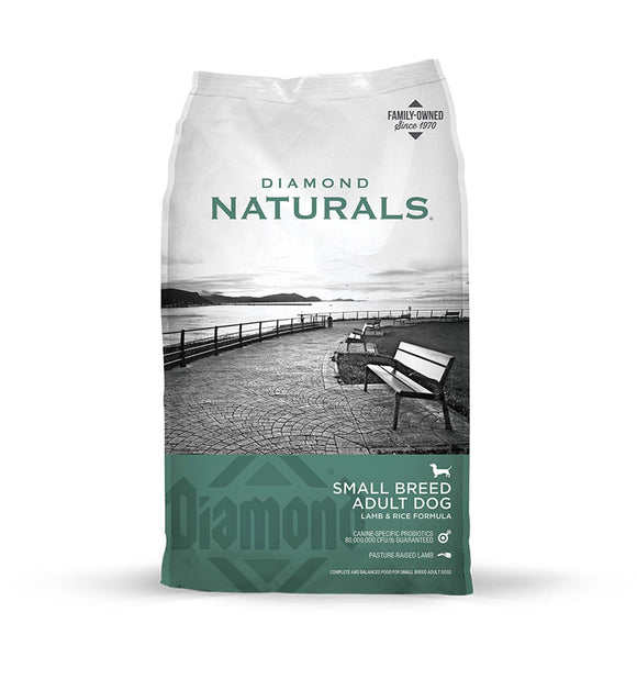 Diamond Naturals Small Breed Adult Dog Lamb & Rice Formula 18 Lbs