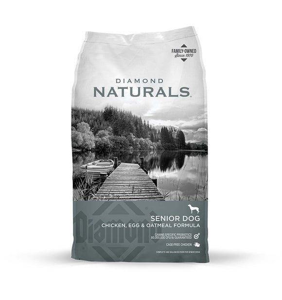 Diamond Naturals Senior Dog Chicken, Egg & Oatmeal Formula 18 Lbs