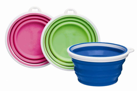 Bamboo Silicone Travel Bowl - Assorted (10282)