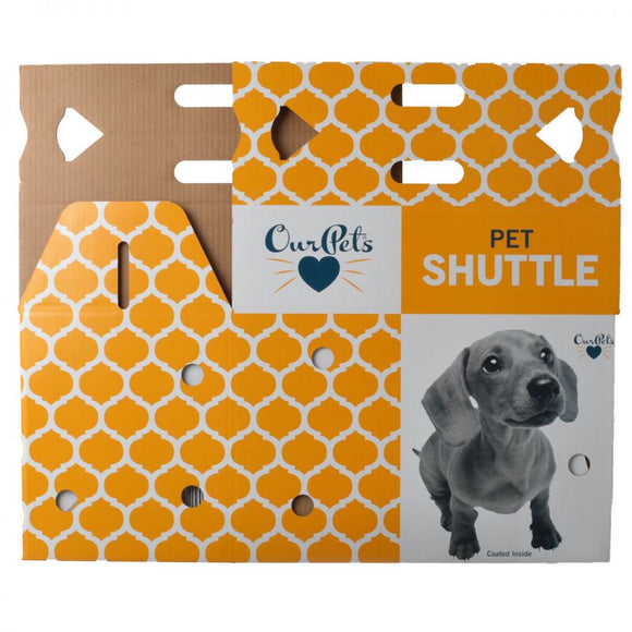 OurPets Cosmic Catnip Pet Shuttle Cardboard Carrier (M2001)