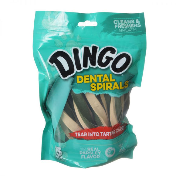 Dingo Dental Spirals Fresh Breath Dog Treats (DN-99108PD)