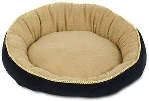 Petmate Round Pet Bed with Elliptical Bolster (28375)