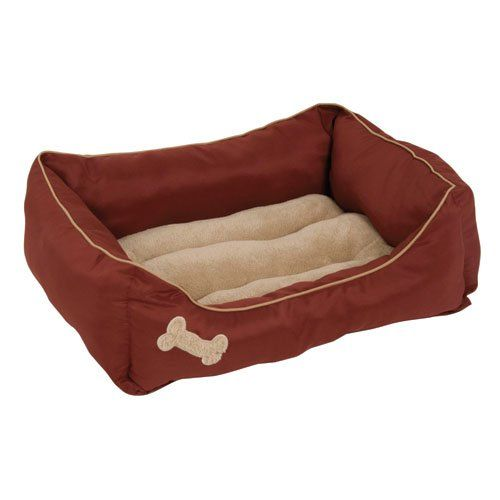 Petmate Plush Rectangular Bone Lounger (28380)