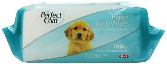 Perfect Coat Puppy Bath Wipes (J7140TL)