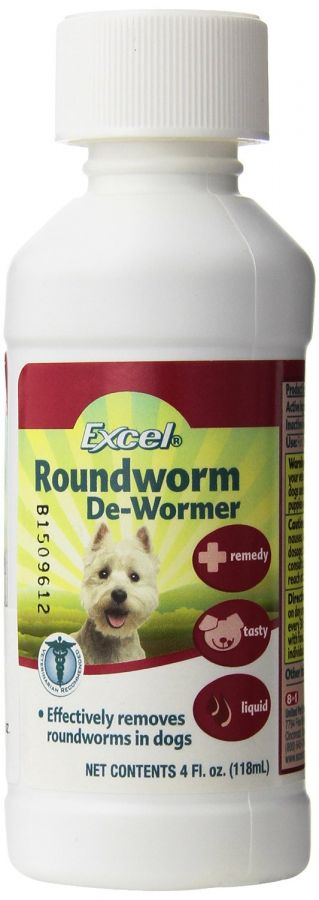 Excel Roundworm De-Wormer Liquid for Dogs (J715)