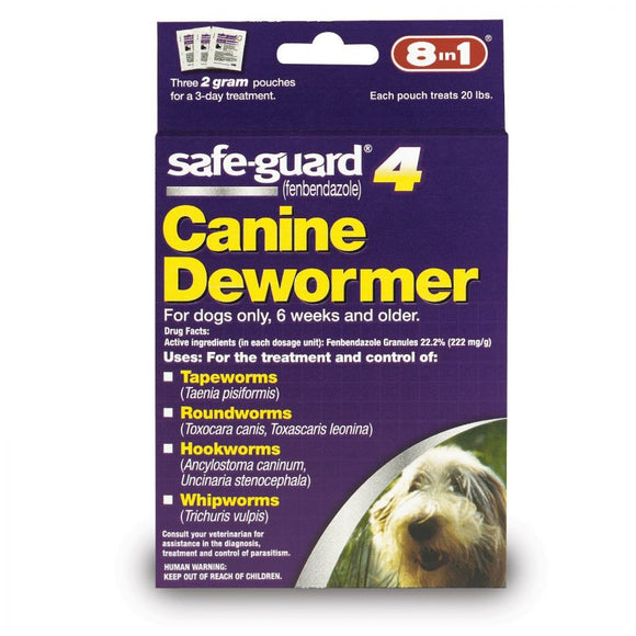 8 in 1 Pet Products Safe-Guard 4 Canine Dewormer (J7162-1)