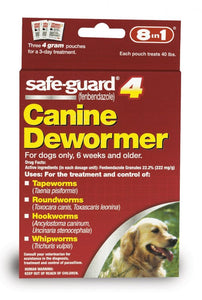8 in 1 Pet Products Safe-Guard 4 Canine Dewormer (J7164-1)