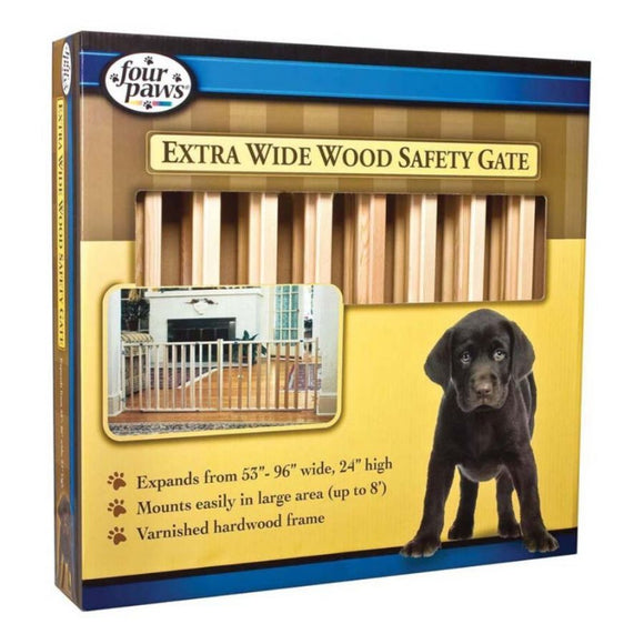 Four Paws Extra Wide Wood Safety Gate (100203596)