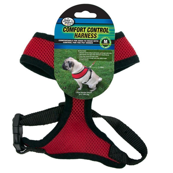 Four Paws Comfort Control Harness - Red (100203707)