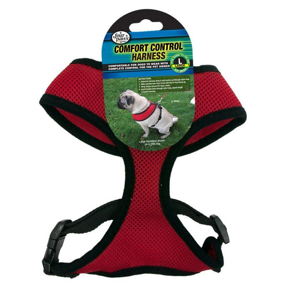 Four Paws Comfort Control Harness - Red (100203713)