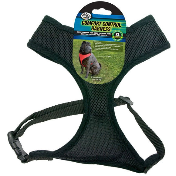 Four Paws Comfort Control Harness - Black (100203717)