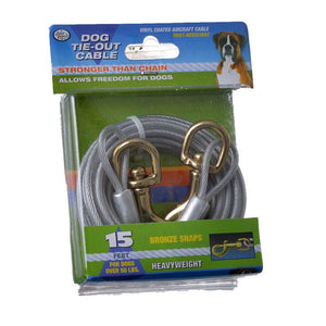 Four Paws Dog Tie Out Cable - Heavy Weight - Black (100203838)