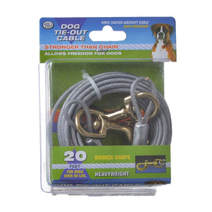Four Paws Dog Tie Out Cable - Heavy Weight - Black (100203839)