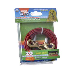 Four Paws Dog Tie Out Cable - Medium Weight - Red (100203878)