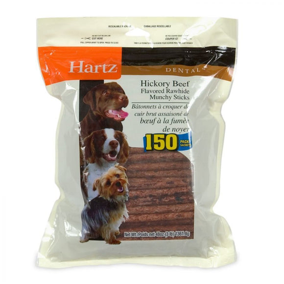 Hartz Rawhide Hickory Munchy Sticks - Hickory Beef Flavored (96275)