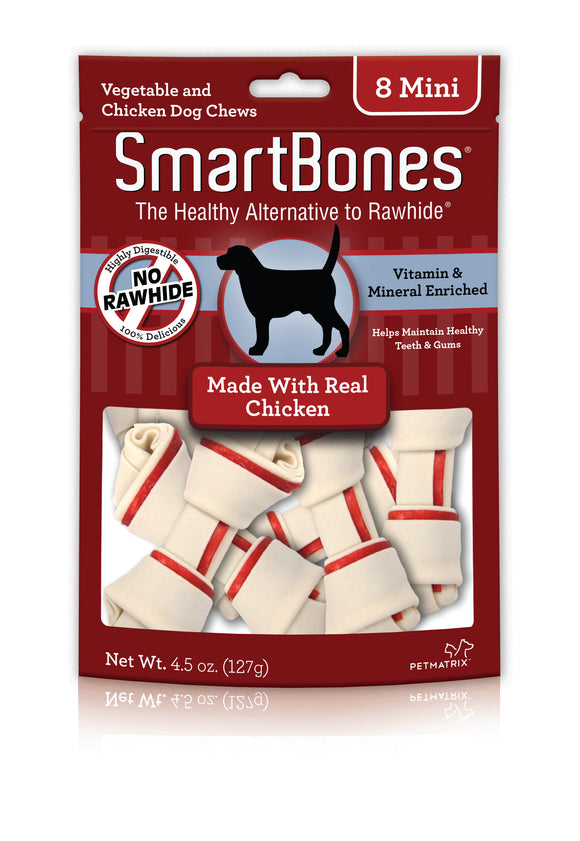 SmartBones Mini Chicken Dog Chew 4.5 Oz