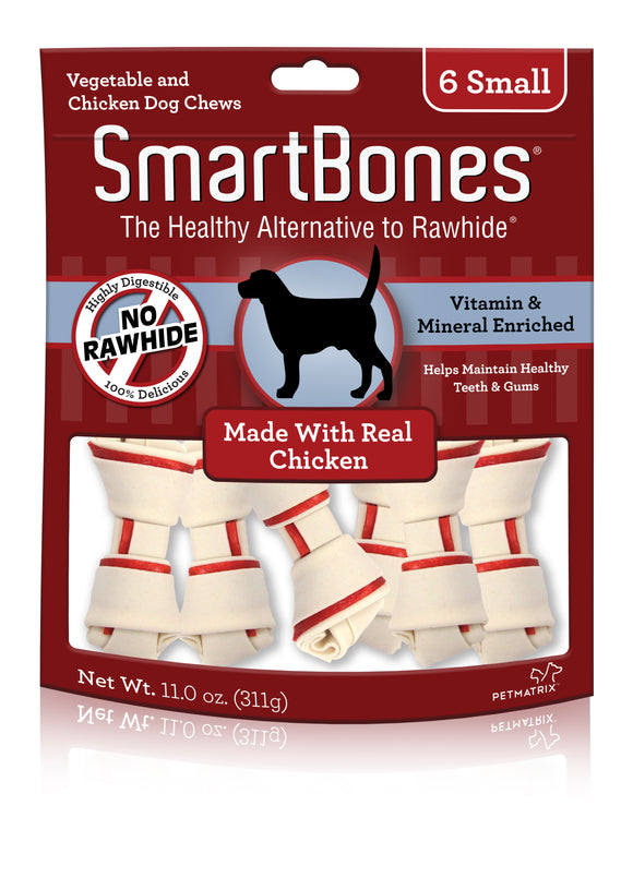 SmartBones Small Chicken Classic Bone Dog Chew 6 Count
