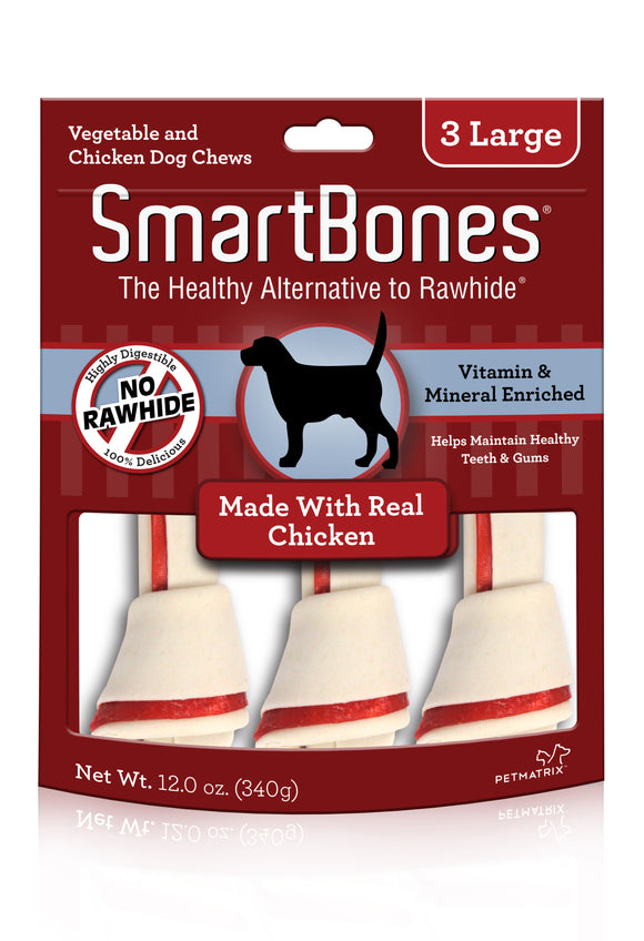 SmartBones Large Chicken Classic Bone Chews 3 Count