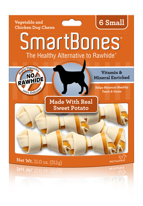 SmartBones Small Sweet Potato Classic Bone Dog Chew 6 Count