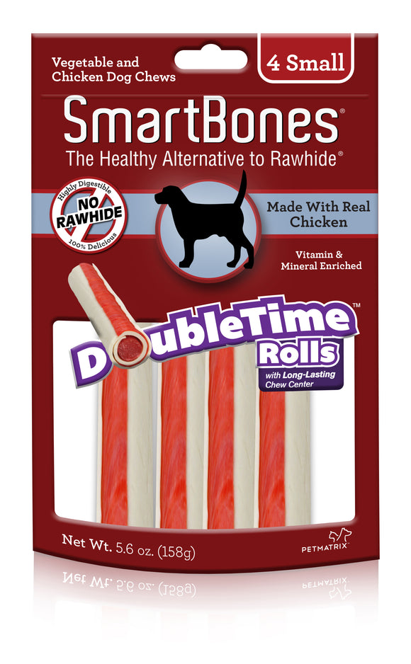 SmartBones Doubletime Small Rolls Chicken Dog Chew 4 Count