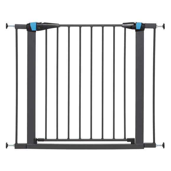 Mid West Graphite Glow in the Dark Steel Pet Gate 29 Inch