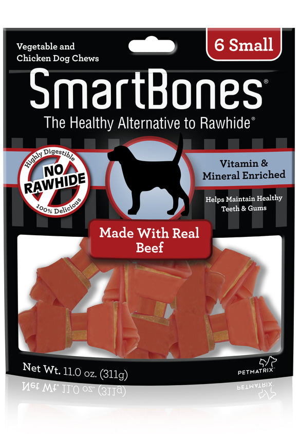 SmartBones Small Beef Classic Bone Dog Chew 6 Count