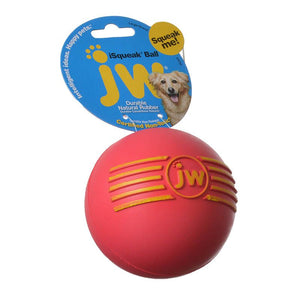 JW Pet iSqueak Ball - Rubber Dog Toy (43032)