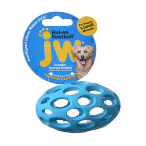 JW Pet Hol-ee Football Rubber Dog Toy (43117)