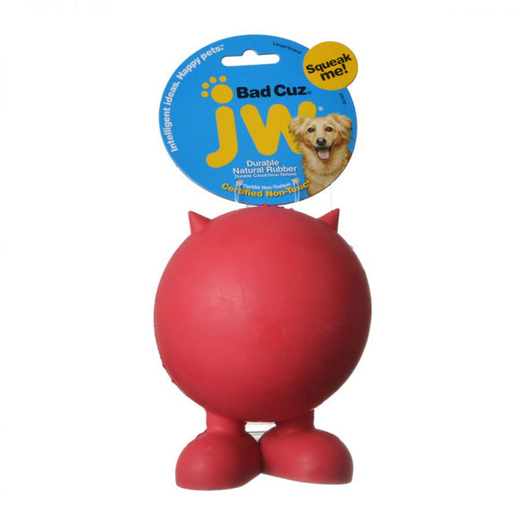 JW Pet Bad Cuz Rubber Squeaker Dog Toy (43170)