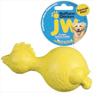 JW Pet Ruffians Rubber Dog Toy - Chicken (43202)