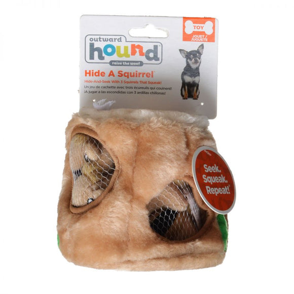 Plush Puppies Plush Hide-A-Squirrel Dog Toy (PP01057)