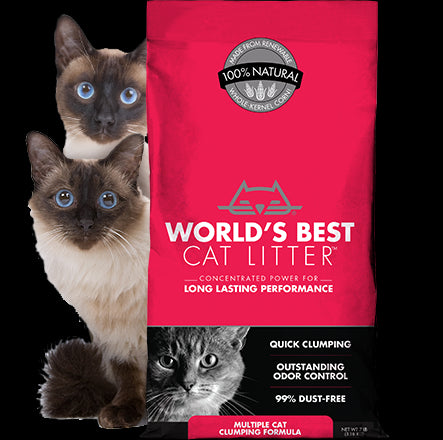 World's Best Cat Litter Multiple Cat Clumping Formula Cat Litter 28 Lbs