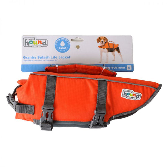 Outward Hound Pet Saver Life Jacket - Orange & Black (22019)