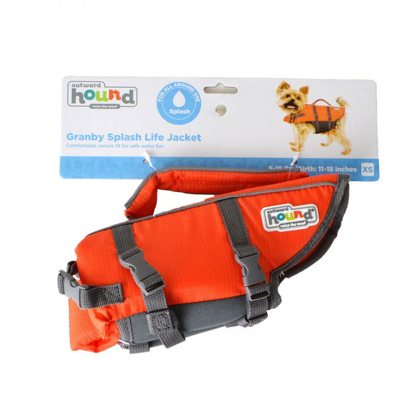 Outward Hound Pet Saver Life Jacket - Orange & Black (22018)