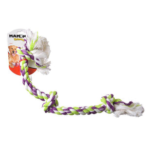 Flossy Chews Colored 3 Knot Tug Rope (20014F)