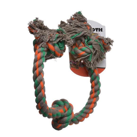 Flossy Chews Colored 3 Knot Tug Rope (20016F)