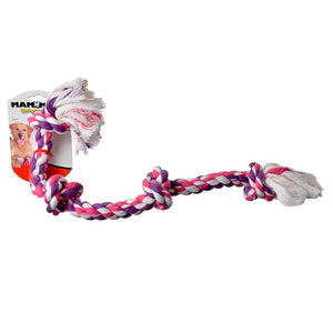 Flossy Chews Colored 4 Knot Tug Rope (20036F)