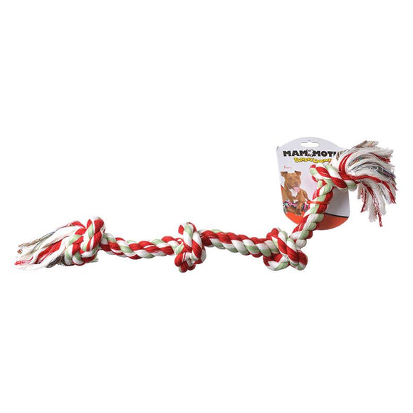 Flossy Chews Colored 4 Knot Tug Rope (20038F)