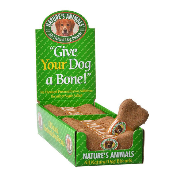 Natures Animals All Natural Dog Bone - Peanut Butter Flavor (486)